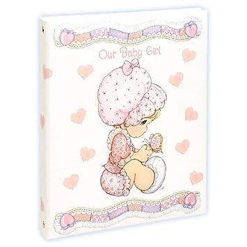 Amazon Com Precious Moments Baby Girl Keepsake Album Baby Photo Albums Baby