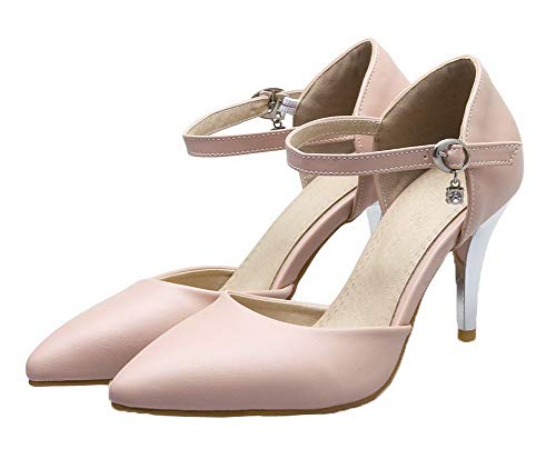 Stylet Cuir Boucle Unie Chaussures Femme L Pu Couleur Agoolar EBwtZq