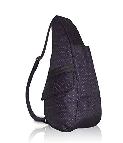 Ameribag Black Backpack - AmeriBag Classic Healthy Back Bag tote Perforated Microfiber Small (Black with Pink))