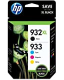 HP 932XL Ink Cartridge and HP 933 Color Ink Cartridge Combo Pack