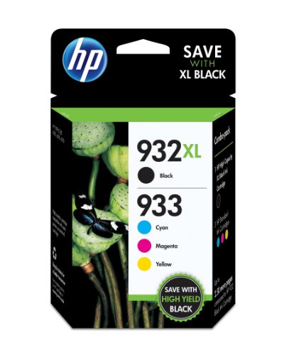 HP 932XL/933 High Yield Black and Standard C/M/Y Color Ink Cartridges
