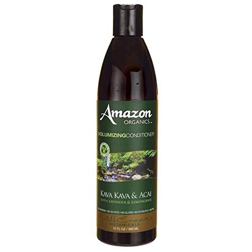 Mill Creek Amazon Organics Volumizing Conditioner, Kava Kava and Acai Grass, 12 Fluid Ounce