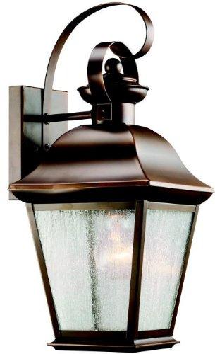 Kichler 9708OZ Mount Vernon Outdoor Wall 1-Light, Olde Bronze