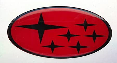 Subar Impreza Motorhaube Grill Badge Kuppel rot und schwarz Sterne Logo Classic Scooby 1992-2001 SCOOBY DESIGNS