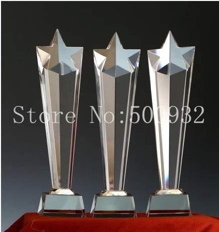 Star Crystal Award Tower - ZAMTAC Fashion Crystal Star Trophy Five Star Award Crystal Star Tower Trophy with Free Engraving