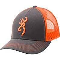 Browning Flashback Neon Cap Charcoal/Neon Orange With Buckmark