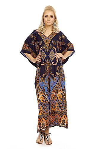 Glam Surdimensionn Tunique Marine Robe Femmes Caftan Kimono Looking Caftan 30378 Maxi Neuf 4dqFwU