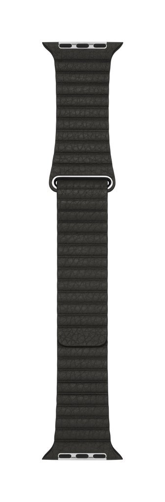 Apple 42mm Leather Loop - Large Smartwatch Replacement Band for Watch Series 1, Watch Series 2, Watch Series 3 - Charcoal Gray