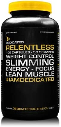 Dedicated Nutrition Relentless Fatburner Fettbrenner Fettverbrennung Fitness Bodybuilding 100 Caps