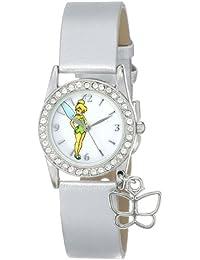 Women's TK1032 Tinkerbell White Dial Silver Metallic Strap Watch