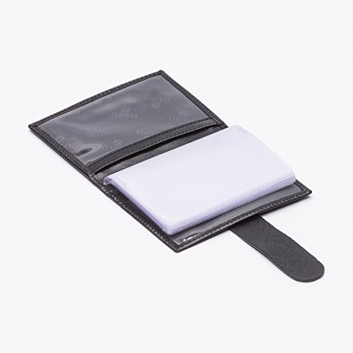 Zerimar Kartenhalter mehrere Karten karten tasche Mappe Hergestellt aus leder brieftasche damen leder brieftasche damen groß leder brieftasche herren,Ausweis- und Kreditkartenetui 10x7 cm. Schwarz