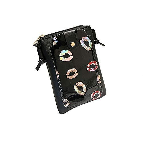 Clearance Sale! ZOMUSAR Women Fashion PU Leather Zipper Small Deer Splice Handbag Shoulder Shell Bag Shiny Crossbody Tote Bag - Charm Bag Hobo