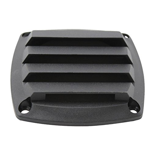uvered Vents Style Boat Marine Hull Air Vent Grill Cover - Black (Louvered Air)