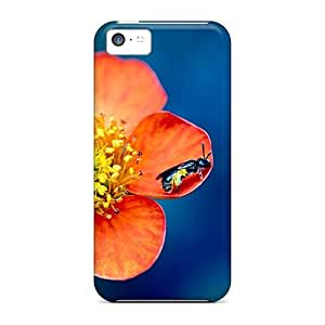 New Style Favorcase Hard Cases Covers For Iphone 5c- A Bee On A Flower