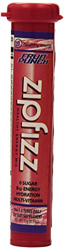 Zipfizz Fruit Punch Healthy Energy Drink Mix – Transform Your Water Into a Healthy Energy Drink – 30 Fruit Punch Tubes