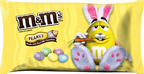 M&Ms Easter Candy Basket Gift Stuffer Peanut Chocolate 11.4 Oz Bags (Pack of 2)