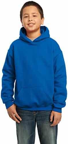 Gildan Heavy Blend Youth 8 oz., 50/50 Hood, XS, ROYAL