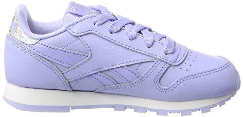 EU Pastel Fille Classic 35 Baskets Glow Violet Leather Reebok Lilac White nY1Sx6q1