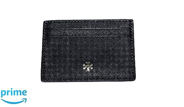 6be38714fe030 Amazon.com  Tory Burch Emerson Slim Card Case Wallet 52904 (Black)  Clothing