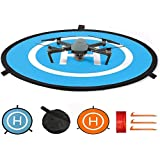 Drone Landing Pad, Universal Waterproof D 75cm/30inch Portable Foldable Landing Pads for RC Drones Helicopter, PVB…