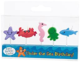 Party Partners Candid Candles Shaped Cake Birthday Decoration, Under the Sea