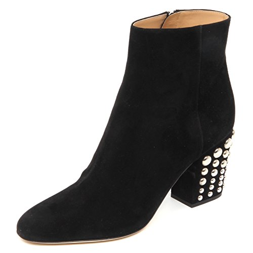 Suede Donna Borchie Boot 40 Woman Tronchetto ROSSI E4750 Shoe Scarpe Black SERGIO tq0Uw