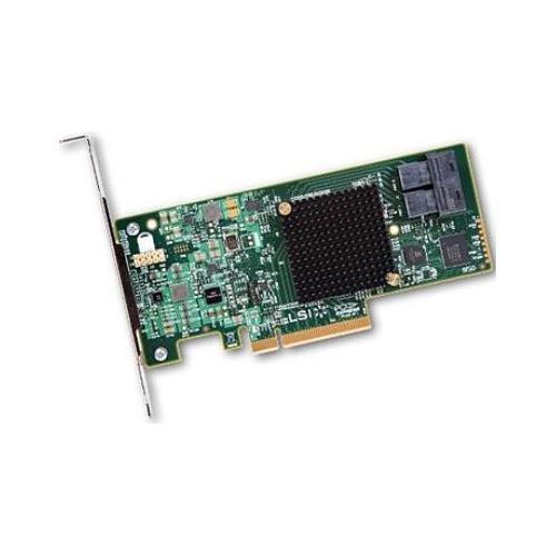 LSI Logic LSI00344 9300-8i SGL SAS 8Port 12Gb/s PCIE3.0 HBA Controller Card Brown Box OEM by LSI