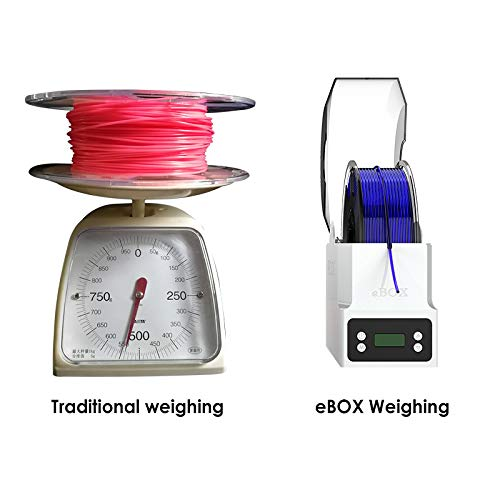 Keep Filament Dry and Measure Filament Weight dehydrate Filament eSUN eBOX 3D Printing Filament Box Second Generation