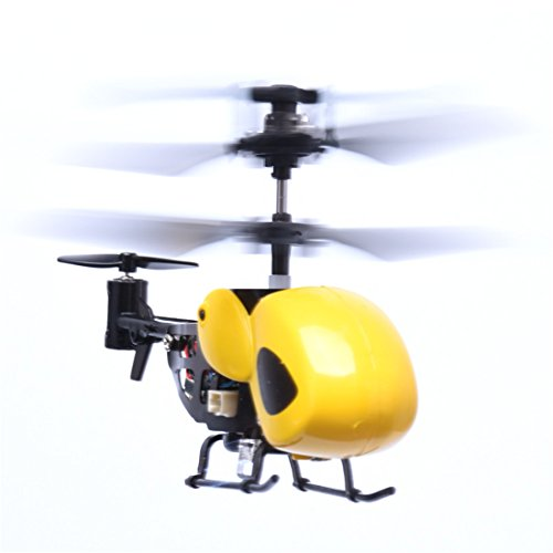 Hemlock Flying RC Helicopter Toys, Kids Radio Remote Plane Toys Boys Remote Controlled Aircrafts (Yellow)