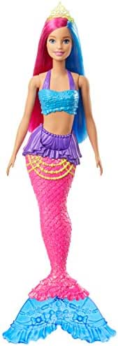 Barbie Dreamtopia Mermaid Doll, 12-Inch, Pink and Blue Hair, with Tiara, Gift for 3 to 7 Year Olds