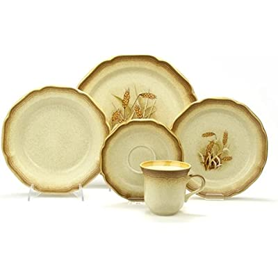 Click for Whole Wheat by Mikasa, Stoneware 5-PC Setting