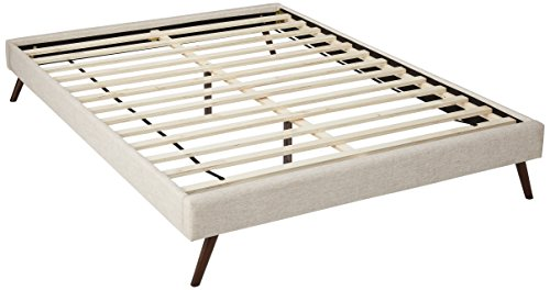 Modway MOD-5891-BEI Loryn Queen Bed Frame with Round Splayed Legs