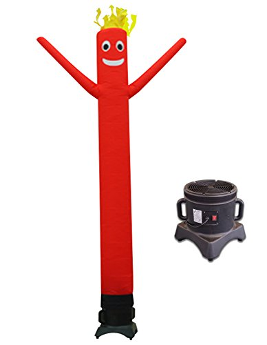 LookOurWay 10ft Air Dancers Inflatable Tube Man Complete Set with 1/2 HP Sky Dancer Blower, 10-Feet, Red ()
