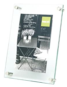 nexxt Air Floating Glass Picture Frame, 4 by 6 Inch