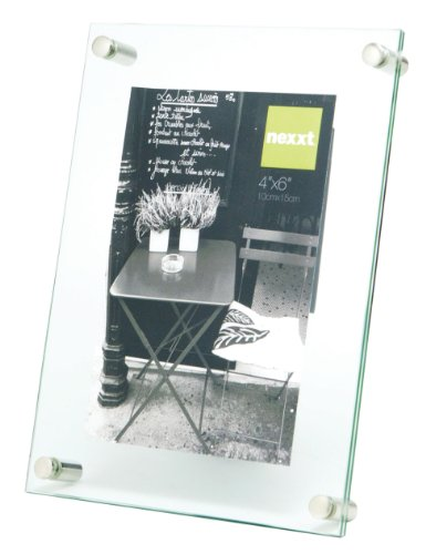 nexxt Air Floating Glass Picture Frame, 4 by 6-Inch (Glass Floating Frame)