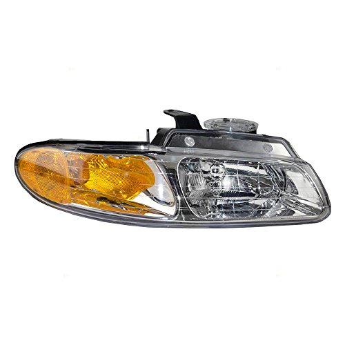 Passengers Headlight Headlamp Replacement for Dodge Chrysler Plymouth Van without Quad Lamps 4857040AB