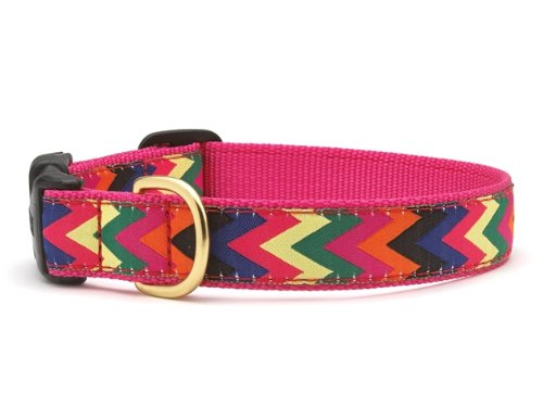 Up Country Zig Zag Wag Dog Collar - Large