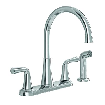 American Standard 9089501.002 Angeline Two Handle Kitchen Faucet with Hand Spray, Polished Chrome