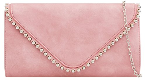 Clutch Trim Studs Girly HandBags Girly HandBags Trim Pink Clutch Studs Bag Bag gxwzpq8x