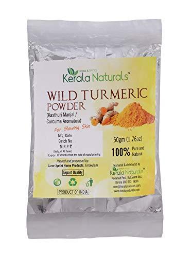 Kerala Naturals Wild Turmeric - Kasthuri Manjal: For Glowing Skin - 50 grams (1.76 oz)