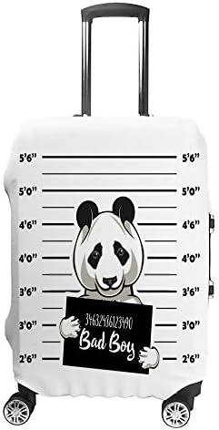 スーツケースカバー 伸縮素材 悪いパンダの絵 ラゲッジカバー ポリエステル トランク カバー 洗える 汚れ防止 盗難防止 見つけやすい 防塵 保護カバー おしゃれ キャリーカバー 海外旅行 着脱簡単 1枚入り