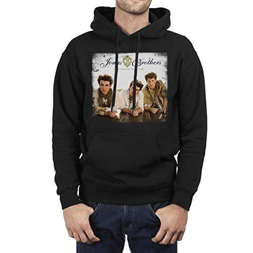 (Long Sleeve Fleece Jonas-Brothers-Lines-Vines-Trying-Times- Mens Pullover Hoodie Sweatshirt)