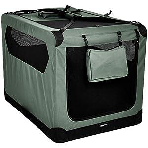 "AmazonBasics Premium Folding Portable Soft Pet Crate - 42"", GREY"