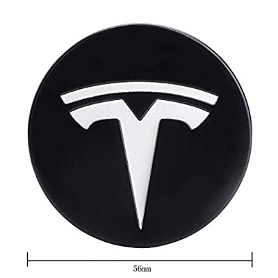 OSIRCAT Tesla Wheel Center Caps fits for Tesla Model S/3/X,4 Hub Center Cap + 20 Lug Nut Covers,Black/White: Automotive