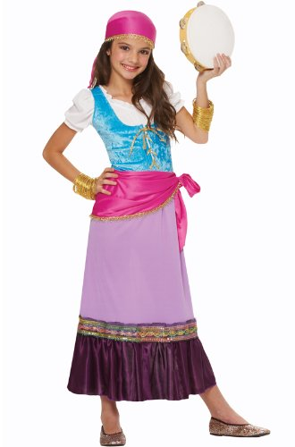 [Costume Culture Women's Pretty Gypsy Girl's Costume, Multi, Large] (Gypsy Costume Head Scarf)