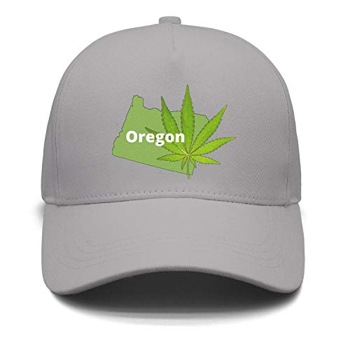 Cannabis in Oregon Medical Cannabis Recreational Drug use Unisex Grey Snapback Hats for Mens Womens Mesh Summer (Best Gunsmith In Maine)