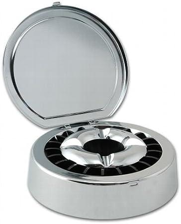 Metallaschenbecher Tonne Silber Aschenbecher Metallascher