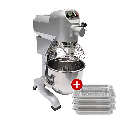 Commercial Stainless Steel Food Mixer, 20-Quart PREPPAL PPM-20 Medium Floor Heavy Duty Mixer Stand Mixer with Bowl Lift