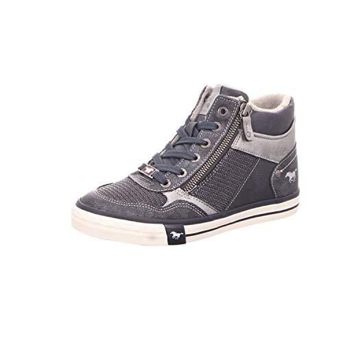 Hautes Femme Bleu Sneaker High Mustang Baskets Top Iqfp7xqwS