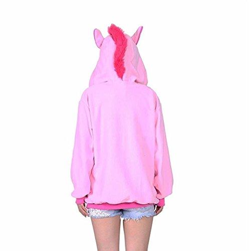 Unicorn/Unicornio Pijama Felpa Trajes En general Ropa de dormir Ropa de noche Ropa de salón Para niños y adultos Suéter rosa